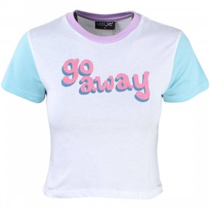 Lazy Oaf Women Go Away Tee (white)
