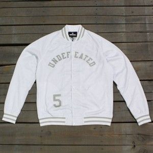 Undefeated Men Mesh Varsity Jacket (white)