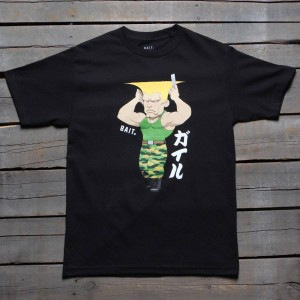 BAIT x Street Fighter Men Chibi Guile Tee (black)