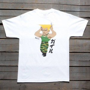 BAIT x Street Fighter Men Chibi Guile Tee (white)
