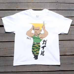 BAIT x Street Fighter Chibi Guile Youth Tee (white)