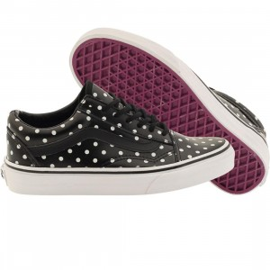Vans Women Old Skool - Leather Polka Dots (black)