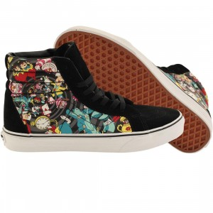 Vans x Disney Mens Sk8-Hi Reissue - Alice In Wonderland Rabbit Hole (black)