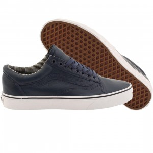 Vans Men Old Skool - Leather (blue / dress blues)