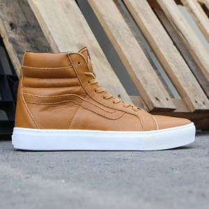 Vans Men Sk8-Hi Cup - Leather (gold / leather)