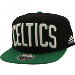 Adidas NBA Boston Celtics On Court Snapback Cap (black / green)