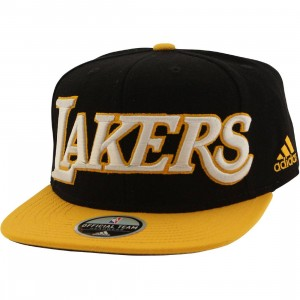 Adidas NBA Los Angeles Lakers On Court Snapback Cap (black / gold)