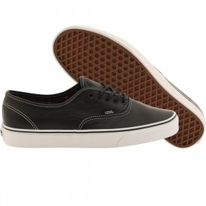 Vans Men Authentic - Leather (black / plaid)