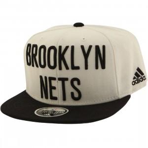 f9997d69087 Adidas NBA Brooklyn Nets On Court Snapback Cap (white   black)