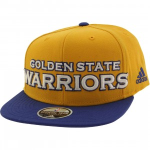 Adidas NBA Golden State Warriors On Court Snapback Cap (gold / blue)