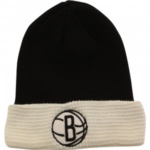 Adidas NBA Brooklyn Nets Team Cuffed Knit Beanie (black / white)