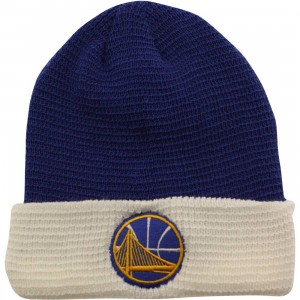 Adidas NBA Golden State Warriors Team Cuffed Knit Beanie (blue / white)