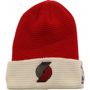 Adidas NBA Portland Trail Blazers Team Cuffed Knit Beanie (red / white)