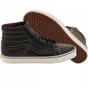 Vans Men Sk8-Hi Reissue - Leather (black / plaid)