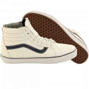 Vans Men Sk8-Hi Reissue - Leather (white / stripes)