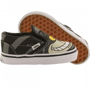 Vans x Disney Toddlers Classic Slip-On - Alice In Wonderland Cheshire Cat (black)