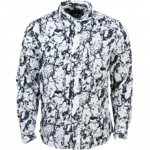 Stussy Men Marble Long Sleeve Shirt (white)
