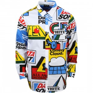 Lazy Oaf Men Software Shirt (white / yellow)