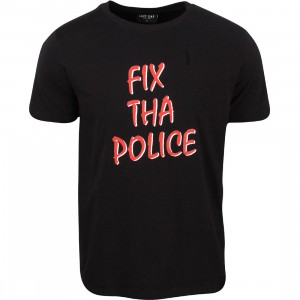 Lazy Oaf Men Fix Tha Police Tee (black)