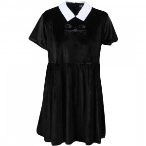 Lazy Oaf Women Cat Collar Dress (black)