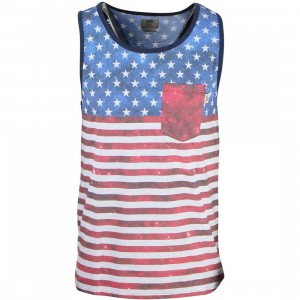 Vans Men Weyfields Tank Top (white / americana)