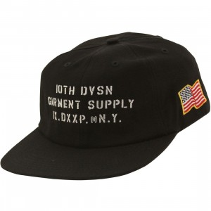 10 Deep Stenciled Snapback Cap (black)