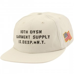 10 Deep Stenciled Snapback Cap (white / off white)