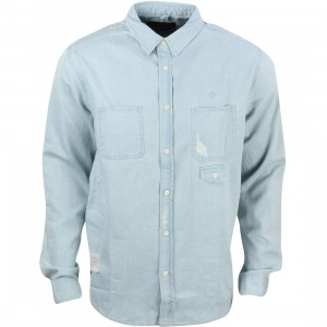 10 Deep Men Destructo Long Sleeve Shirt (blue / light damage)