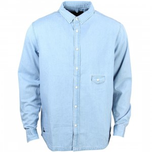 10 Deep Men Red Tail Sweeper Long Sleeve Shirt (blue / light indigo)