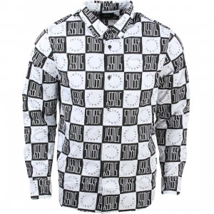 Stussy Men Block Check Shirt (white)