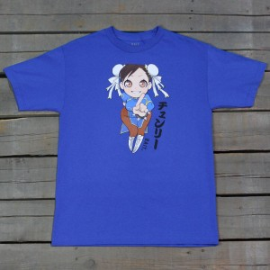 BAIT x Street Fighter Men Chun Li Tee (blue / royal blue)