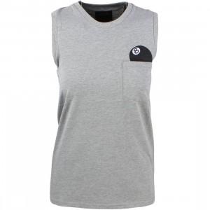 Stussy Women 8 Ball Muscle Tee (gray / heather)