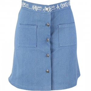 Stussy Women Denim Link Skirt (blue)