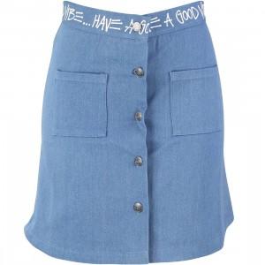 Stussy Women Denim Link Skirt (blue)