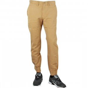 Vans Men Excerpt Chino Pegged Jogger Pants (brown / mushroom)