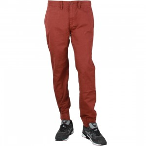 Vans Men Excerpt Chino Pegged Pants (maroon / brick)