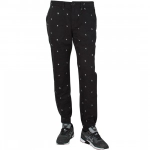 Vans Men Excerpt Chino Pegged Pants (black / palm ditsy)