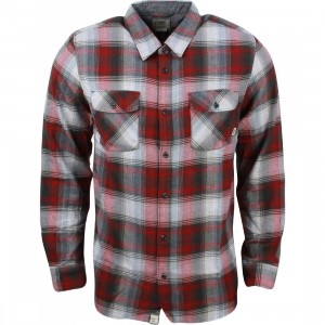 Vans Men Kepler Flannel Shirt (red / bordeaux)