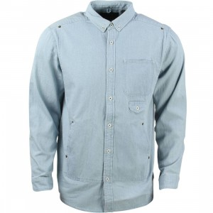 10 Deep Men Carpenter Shirt (blue / light indigo)