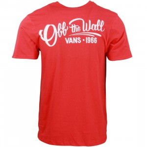 Vans Men Hand Painted Tee (red / cardinal)