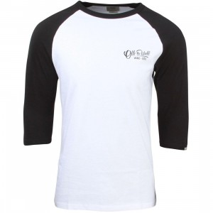 Vans Men Hand Painted Raglan Tee (white / black)