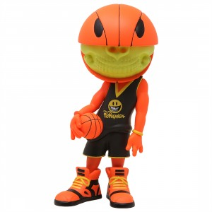 Ron English PoPaganda Basketball Grin Vinyl Figure (orange / black)