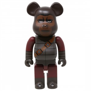 Medicom Planet of the Apes Soldier Ape 400% Bearbrick Figure (gray)