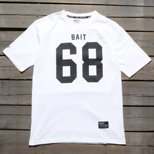 BAIT Men 68 Football Tee (white)