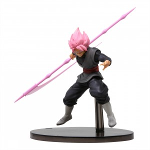 Banpresto Dragon Ball Z Banpresto World Figure Colosseum 2 Vol.9 Super Saiyan Rose Goku Black Figure (pink)
