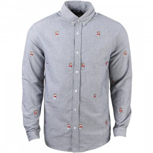 Lazy Oaf Men Pack a Day Long Sleeve Shirt (blue)