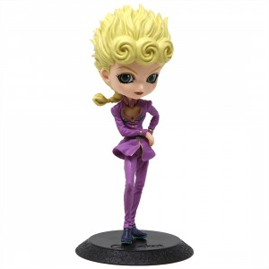 Banpresto Q Posket JoJo's Bizarre Adventure Golden Wind Giorno Giovanna Figure - Ver. A (purple)