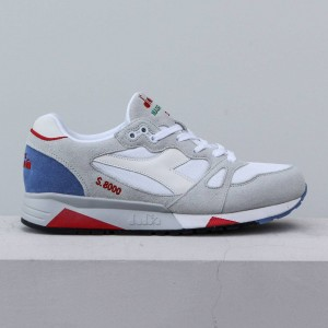 Diadora Men S8000 NYL - Made In Italy (white / micro blue)