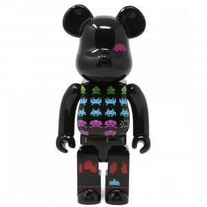 Medicom Space Invaders 400% Bearbrick Figure (black)
