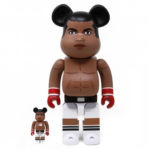 Medicom Muhammad Ali 100% 400% Bearbrick Figure Set (brown)